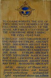 218 Sq memorial plaque