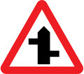UK Traffic Sign Diagram Number 507.1 RL - Staggered Junction Ahead - Right Left