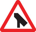 UK Traffic Sign Diagram Number 509.1 - Traffic Merges Ahead onto Main Carriageway