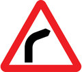 UK Traffic Sign Diagram Number 512 R - Bend Ahead - Right