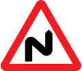 UK Traffic Sign Diagram Number 513 RL - Double Bend Ahead - Right Left