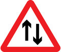 UK Traffic Sign Diagram Number 521 - Two-way Traffic Ahead