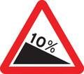 UK Traffic Sign Diagram Number 523.1 - Steep Downhill Ahead