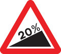 UK Traffic Sign Diagram Number 524.1 - Steep Uphill Ahead