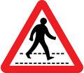 UK Traffic Sign Diagram Number 544 - Zebra Crossing Ahead