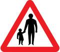 UK Traffic Sign Diagram Number 544.1 - Pedestrians in Road Ahead