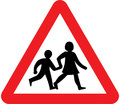 UK Traffic Sign Diagram Number 545 - Children Crossing for School or Playground