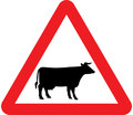 UK Traffic Sign Diagram Number 548 - Cattle