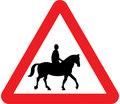 UK Traffic Sign Diagram Number 550.1 - Accompanied Horses