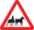 UK Traffic Sign Diagram Number 550.2 - Horse-drawn Vehicles