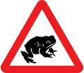 UK Traffic Sign Diagram Number 551.1 - Migratory Toad Crossing