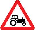 UK Traffic Sign Diagram Number 553.1 - Agricultural Vehicles