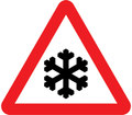 UK Traffic Sign Diagram Number 554.2 - Risk of Ice or Packed Snow
