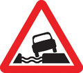 UK Traffic Sign Diagram Number 555.1 - Water Besides Road
