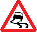 UK Traffic Sign Diagram Number 557 - Slippery Road