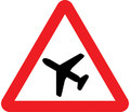 UK Traffic Sign Diagram Number 558 - Low Flying Aircraft