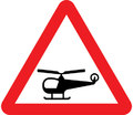 UK Traffic Sign Diagram Number 558.1 - Low Flying Helicopters