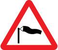 UK Traffic Sign Diagram Number 581 - Side Winds