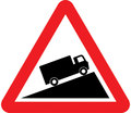 UK Traffic Sign Diagram Number 583 - Slow Moving Vehicles on Incline