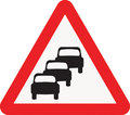UK Traffic Sign Diagram Number 584 - Queues Likely