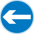 UK Traffic Sign Diagram Number 606 - Compulsory Direction