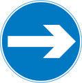 UK Traffic Sign Diagram Number 606 B - Compulsory Direction