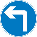 UK Traffic Sign Diagram Number 609 - Compulsory Manoeuvre