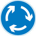 UK Traffic Sign Diagram Number 611.1 - Mini Roundabout