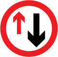 UK Traffic Sign Diagram Number 615 - Priority Must be Given to Oncoming Vehicles