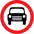 UK Traffic Sign Diagram Number 619.1 - Motor Vehicles Prohibited Except Solo Motorcycles