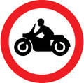 UK Traffic Sign Diagram Number 619.2 - Solo Motorcycles Prohibited