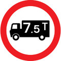 UK Traffic Sign Diagram Number 622.1A - Goods Vehicles Prohibited