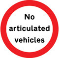 UK Traffic Sign Diagram Number 622.4 - No Articulated Vehicles