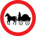 UK Traffic Sign Diagram Number 622.4 - No Horse-drawn Vehicles