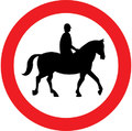 UK Traffic Sign Diagram Number 622.6 - Horses not Permitted
