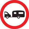 UK Traffic Sign Diagram Number 622.7 - Caravans not Permitted