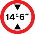 UK Traffic Sign Diagram Number 629.2 - Height Restriction - Low Bridge