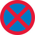 UK Traffic Sign Diagram Number 642 - Clearway - No Stopping on Main Carriageway