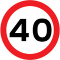UK Traffic Sign Diagram Number 670 - 40 MPH Speed Limit