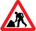 UK Traffic Sign Diagram Number 7001 - Road Works