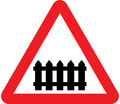 UK Traffic Sign Diagram Number 770 - Level Crossing with a Gate or Barrier