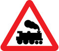 UK Traffic Sign Diagram Number 771 - Railway Crossing (without barriers)