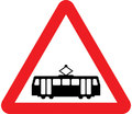 UK Traffic Sign Diagram Number 772 - Tramcar Crossing (without barriers)