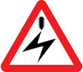 UK Traffic Sign Diagram Number 779 - Overhead Electrified Cable