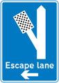 UK Traffic Sign Diagram Number 817.2 - Escape Lane