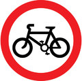 UK Traffic Sign Diagram Number 951 - No Cycles