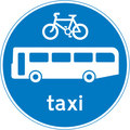 UK Traffic Sign Diagram Number 953 -  Buses, Cycles and Taxis Only