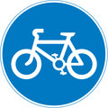 UK Traffic Sign Diagram Number 955 -  Pedal Cycles Only