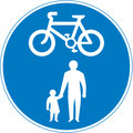 UK Traffic Sign Diagram Number 956 -  Pedal Cycles and Pedestrians Only - Unsegregated Route