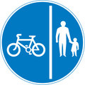 UK Traffic Sign Diagram Number 957 -  Pedal Cycles and Pedestrians Only - Segregated Route